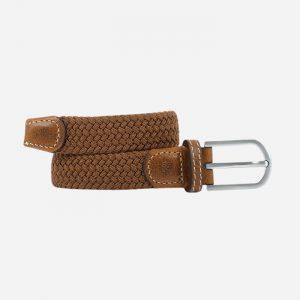 Women Plain Braid Belt Camel Brown