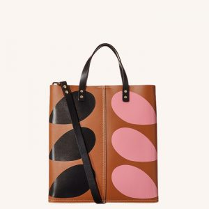 Hazel Stem Print Leather Lauren Tote Bag