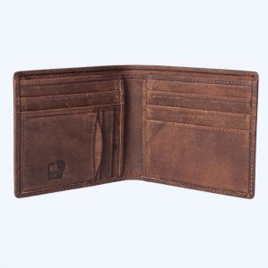 Basic Leather Wallet Brown