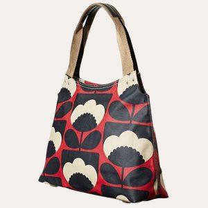 Spring Bloom Classic Zip Shoulder Bag Poppy