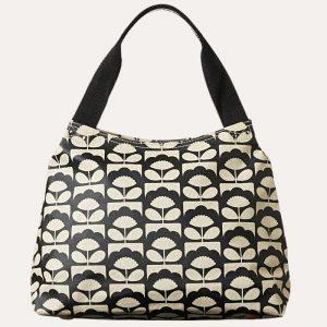 Tiny Spring Bloom Classic Zip Shoulder Bag Charcoal
