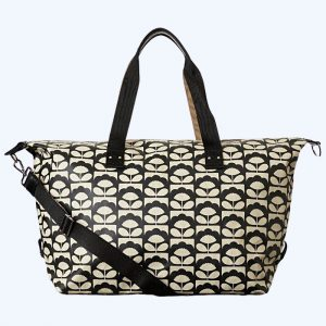 Tiny Spring Bloom Zip Holdall Charcoal