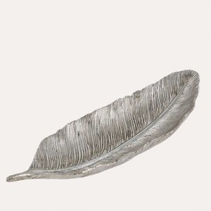 Silver Decorative Feather