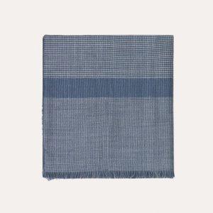 Milan Baby Alpaca Wool/Silk Scarf Blue