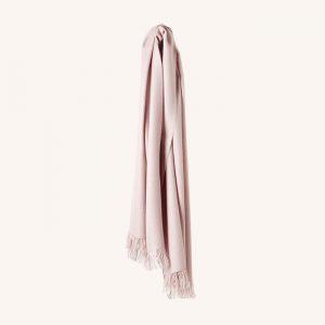 Traveller Baby Alpaca Wool Shawl Rose/Ivory