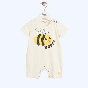 Bari Shorty Playsuit Bee Happy