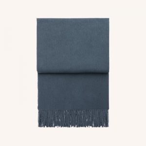 Classic Alpaca/Wool Throw Midnight Blue