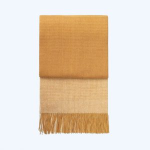 Horizon Alpaca/Wool Throw Yellow Ochre