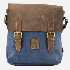 Cross Body Bag With Leather Flap