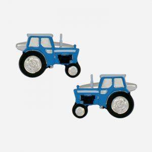 Blue Tractor Cufflinks
