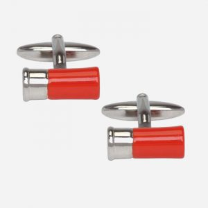 Red Gun Cartridge Cufflinks