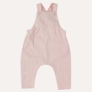 Baby Seersucker Dungarees Pink