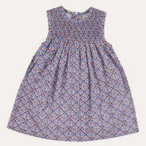 Sleeveless Smock Dress Tiles