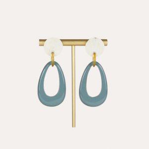 Lacquer Teardrop Earrings Slate