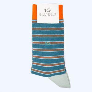 Stripe Socks Blue and Orange