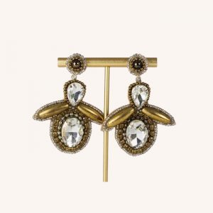 Bee Drop Earrings Gold and Silver
