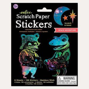 Space Adventure Scratch Paper Stickers