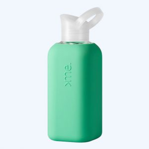 Glass Bottle with Mint Silicone Sleeve