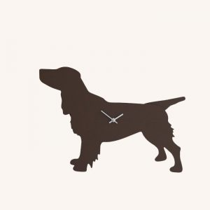 Brown Spaniel Wagging Tail Clock