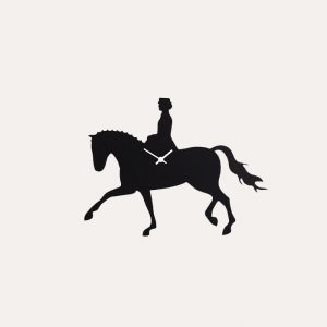 Dressage Horse Wagging Tail Clock