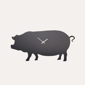 Pig Wagging Tail Clock