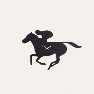 Racehorse Wagging Tail Clock