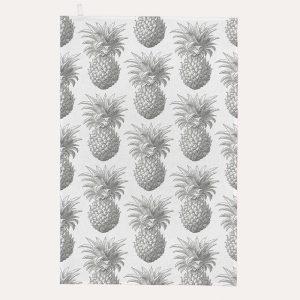 Pineapple Grey Tea Towel