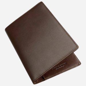 Slim Travel Wallet Brown