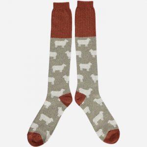 Lambswool Sheep Knee Socks