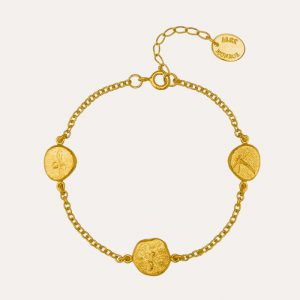 Paleontology Nugget Bracelet Gold