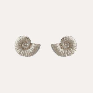 Ammonite Studs Silver