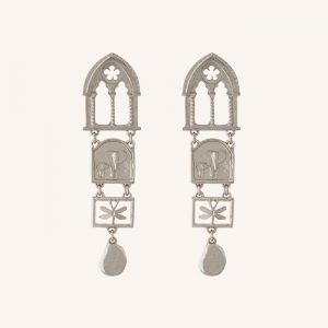 Discovery Statement Drop Earrings Silver