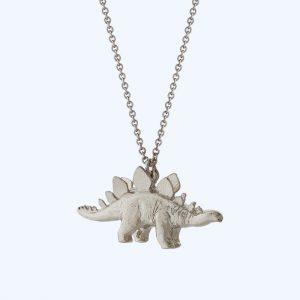 Stegosaurus Necklace Silver