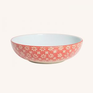 Supper Bowl Red Flower