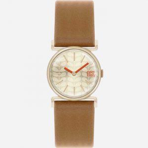 Cecelia OK2050 Gold Plated Tan Leather Watch