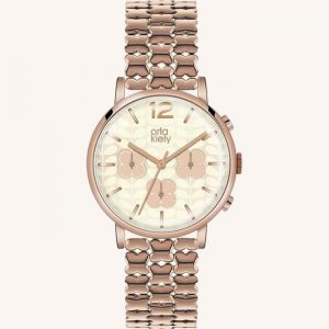 Frankie OK4004 Chronograph Watch Rose Gold