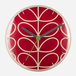 Linear Stem Wall Clock Geranium