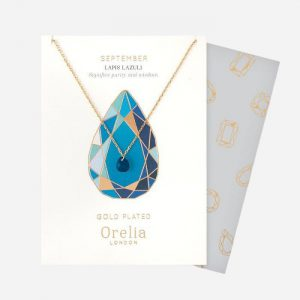 Birthstone Necklace September Lapis Lazuli