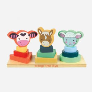 Farm Animal Shape Stacking Game
