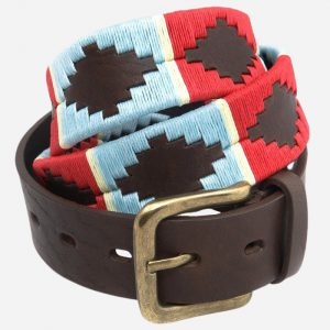 Polo Belt 163 Blue/Red/White