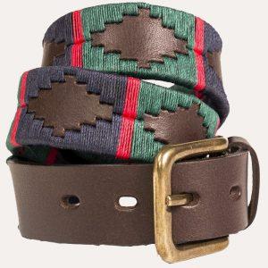 Polo Belt 196 Navy/Dark Green/Red