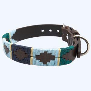 Polo Dog Collar 756 Green/Blue/Navy/Cream