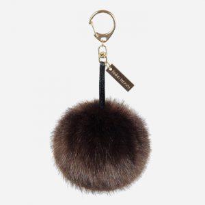 Faux Fur Pom Pom Keyring Treacle