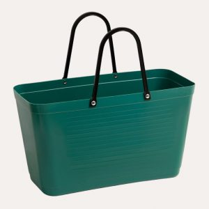 Green Plastic Large Dark Green Bag