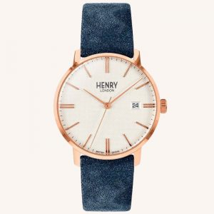 Regency Suede Watch Sky Blue