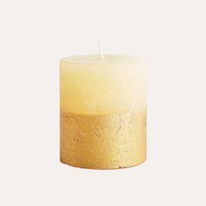 Inspiritus Scented Gold Dipped Pillar Candle