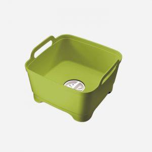 Wash and Drain Washing Up Bowl Green