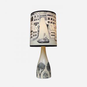 Linden Lamp Base Cream and Black
