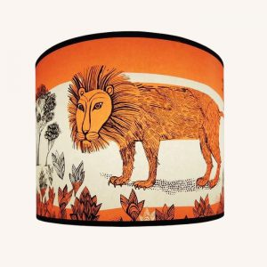 Lion Pendant Lampshade Regular Orange