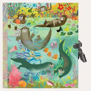 Otters Locked Diary